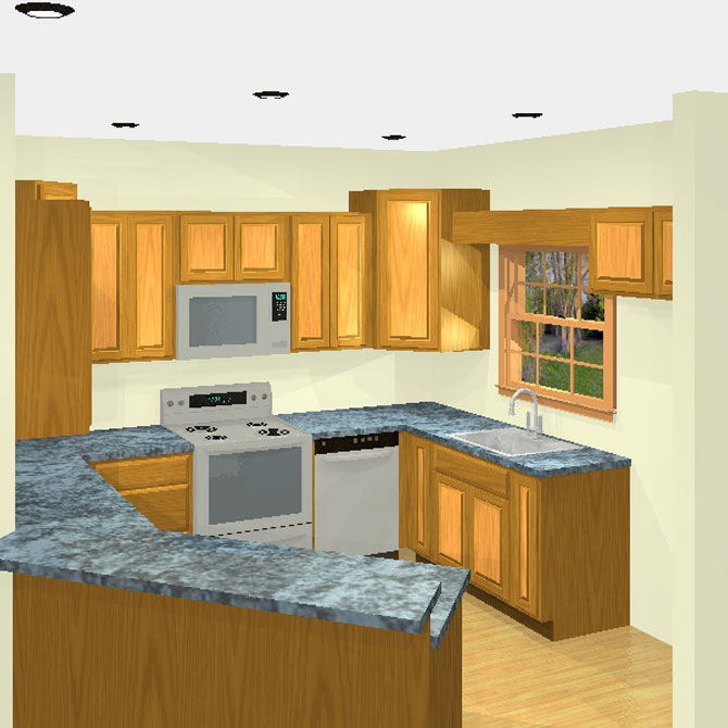 3D kitchen designs and layouts C and J Wood Design