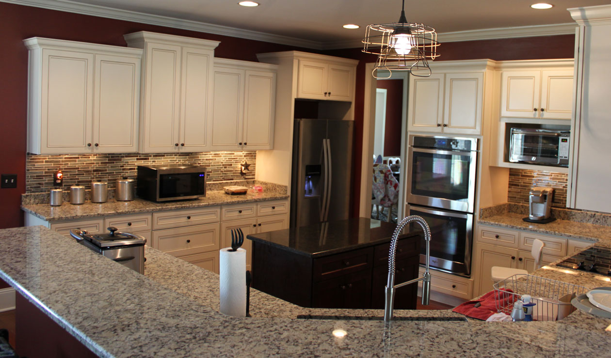 Custom kitchen granite counters C and J Wood Design