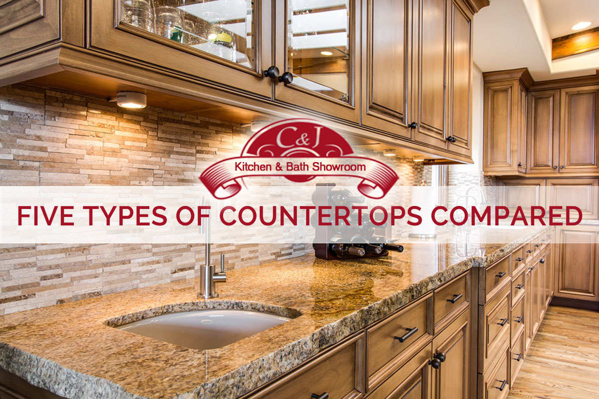 Custom kitchen design, remodeling - five types of countertops compared | C and J Wood Design
